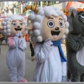 Cartoon Costumes Walking Cartoon Dolls Cartoon Doll Dress Performance Props Sheep Mascot Costume