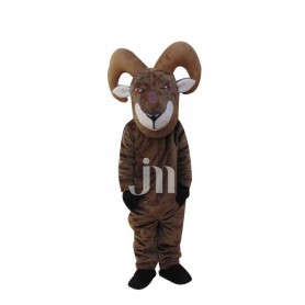 Majesty Handsome Cartoon Wheel Angle Black Goat Walking Hedging Doll Clothing Sheep Mascot Mascot Costume