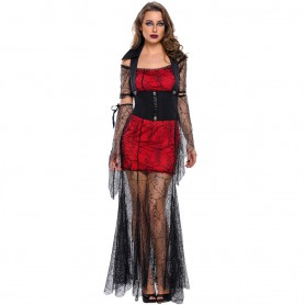 Fall and Winter Halloween Cosplay Vampire Queen Bat Sleeve Stage Performance Halloween Costume