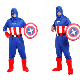 Halloween Costume Adult American Captain Hero Alliance Dress Up Shield
