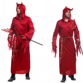 Halloween Costume Adult Makeup Stage Devil Dress Up Dress