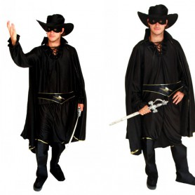 Halloween Costume Adult Makeup Zorro Masked Costume