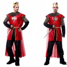 Halloween Costume Men Adult Stage Masks King Dress