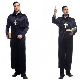 Halloween Costumes Adult Makeup Performance Costumes Priest Service Priest Service