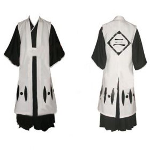Bleach 3rd Division Captain Ichimaru Gin Halloween Cosplay Costume