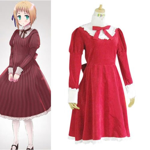 Hetalia Axis Powers Liechtenstein Red Halloween Cosplay Costume