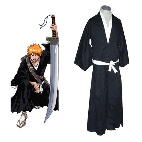 Bleach Ichigo Kurosaki Soul Reaper Uniform Halloween Cosplay