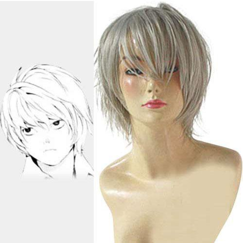 Death Note Near White Halloween Cosplay Wig