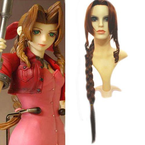 Final Fantasy Aeris Gainsborough 100cm Halloween Cosplay Wig