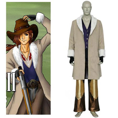 Final Fantasy VIII Irvine Kinneas Halloween Cosplay Costume