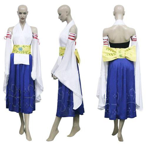 Final Fantasy X-0 Yuna Halloween Cosplay Costume