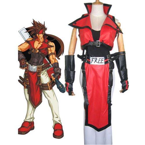 Guilty Gear Sol Badguy Halloween Cosplay Costume