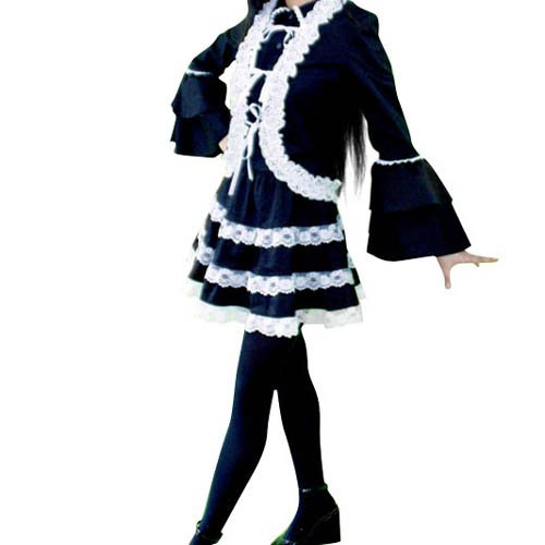 Black Lolita Halloween Cosplay Costume