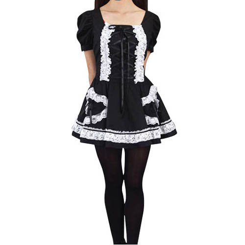 Black Lolita  Halloween Cosplay Costume