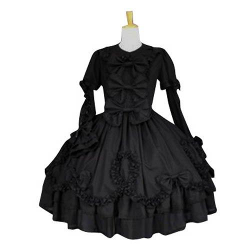 Black Long Sleeves Classic Lolita Halloween Cosplay Dress