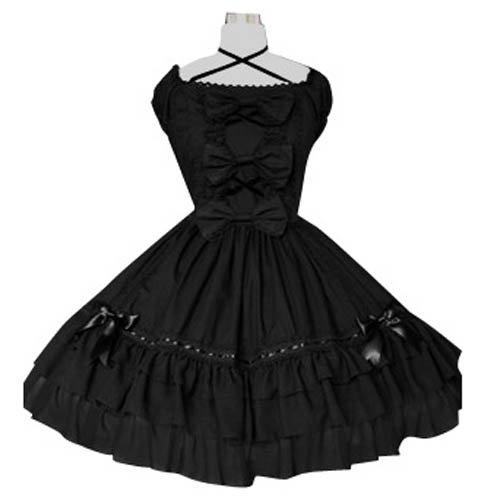 Black Puff Sleeves Classic Lolita Halloween Cosplay Dress
