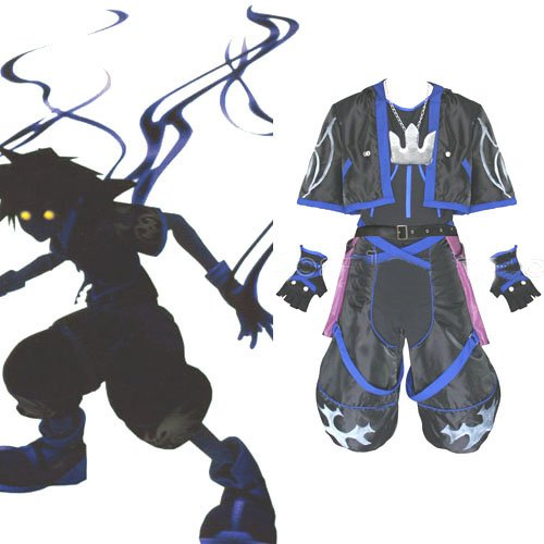 Kingdom Hearts Anti Sora Halloween Cosplay Costume