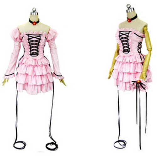 Chobits Chii Pink Dress Lolita Halloween Cosplay Costume