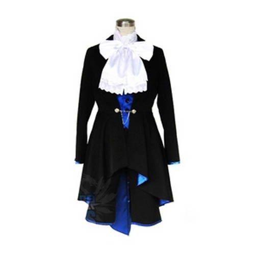 Kuroshitsuji Ciel Phantomhive Black & Blue Lolita Halloween Cosplay Costum