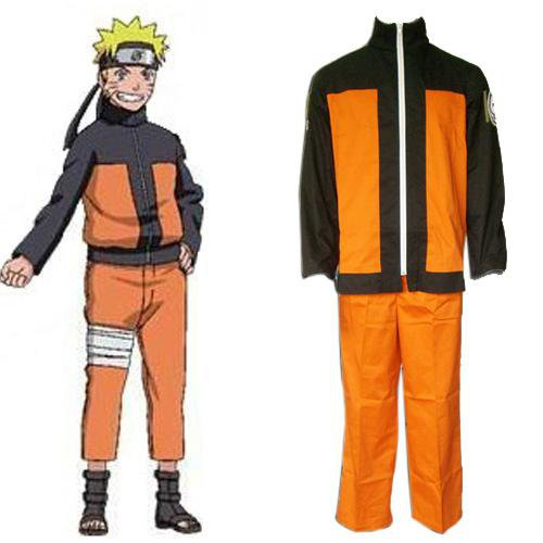 Ideal Naruto Shippuden Uzumaki Men\'s Halloween Cosplay Costume