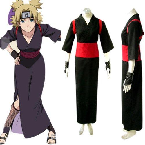 Naruto Shippuden Temari Women\'s Halloween Cosplay Costume