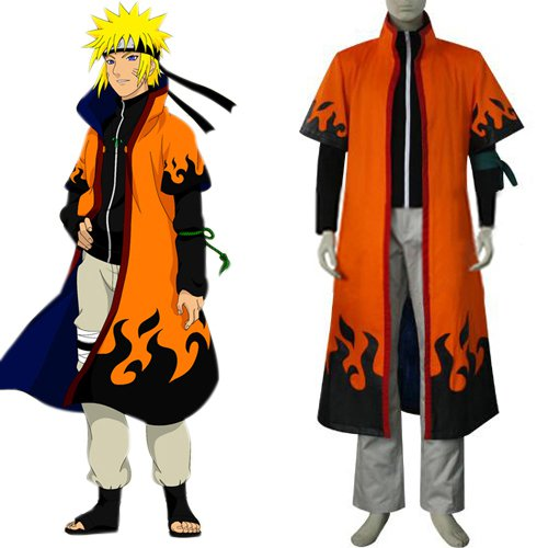 Naruto Uzumaki Naruto 6th Hokage Halloween Cosplay Costume