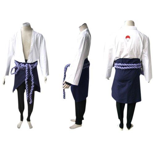 Suitable Naruto Shippuden Sasuke Uchiha Men\'s Halloween Cosplay Costume