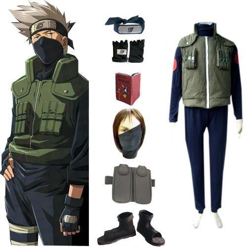 Naruto Hatake Kakashi Deluxe Men\'s Halloween Cosplay Costume