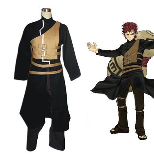 Naruto Shippuden Gaara Men\'s Halloween Cosplay Costume