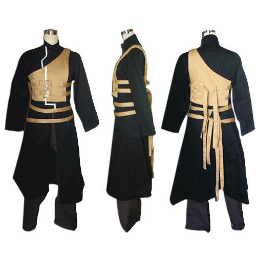 Naruto Shippuden Gaara Men\'s Halloween Cosplay Costume and Accessories Set