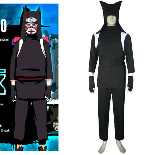 Naruto Shippuden Kankuro Halloween Cosplay Costume