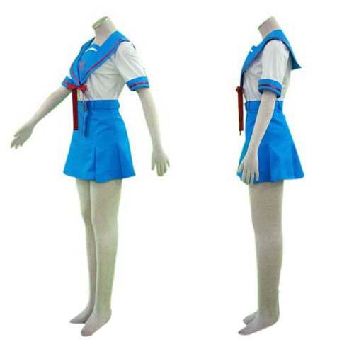 Japanese School Uniform Suzumiya Haruhi Halloween Cosplay Costume