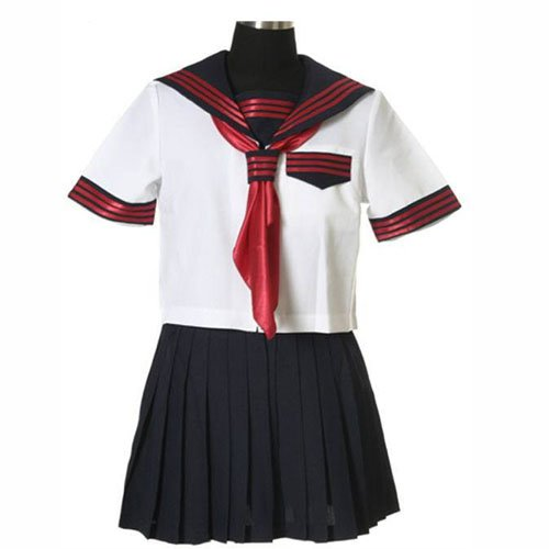 Cool Cheap Short Sleeves Sailor School Uniform Halloween Cosplay Costume