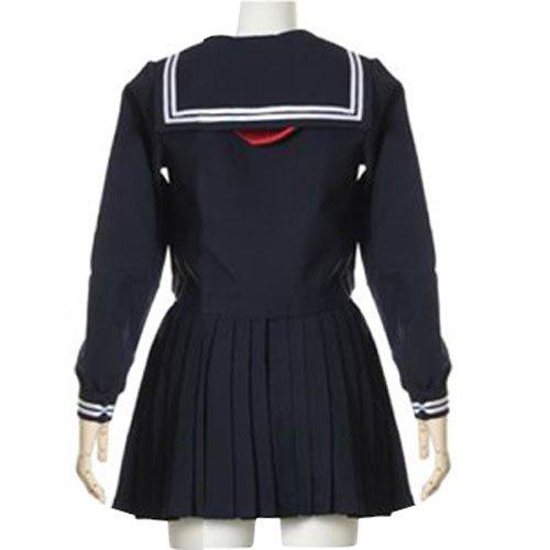 Deep Blue Long Sleeves School Uniform  Halloween Cosplay Costume