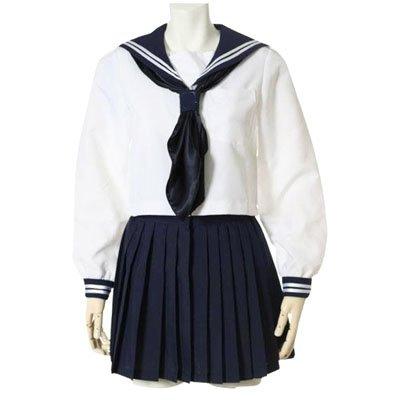 Ideal Suitable Deep Blue Long Sleeves School Uniform