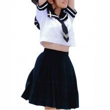 Perfect Unusual Ideal Superior Short Sleeves Sailor School Uniform Halloween Cosplay Costume