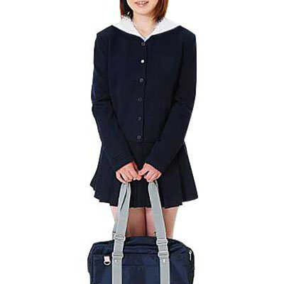 Unusual Suitable Deep Blue Long Sleeves School Uniform