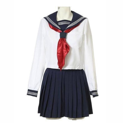Suitable Perfect Short Sleeves Sailor School Uniform