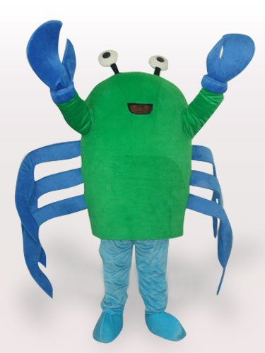 Green Crab Short Plush Adult Mascot Costume