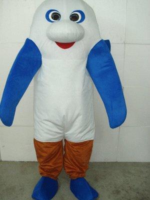 Sea Monster Plush Adult Mascot Costume