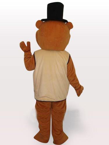 Beaver Short Plush Adult Mascot Costume