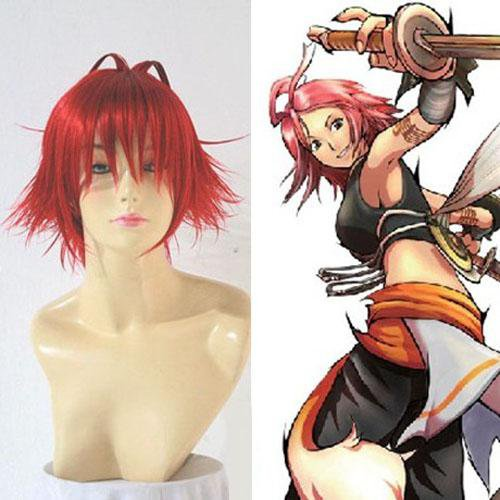 Hack G.U. Trilogy Alkaid Red Custom Styled Halloween Cosplay Wig