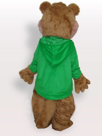 Green Squirrel Plush Adult Mascot Costume
