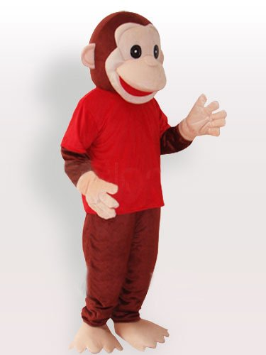 Happy Monkey Adult Mascot Costume