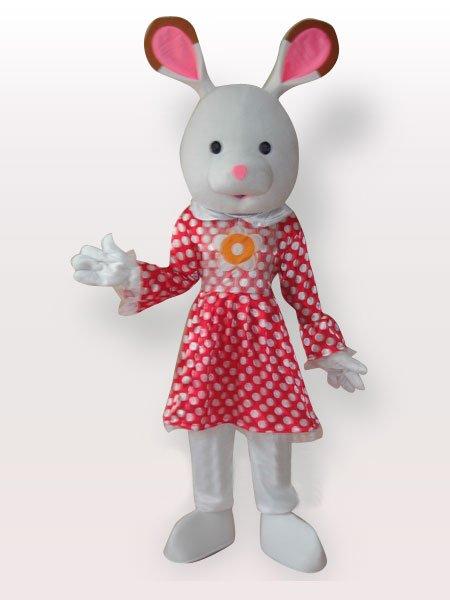 Perfect Popular Rabbit Short Plush Adult Mascot Costume