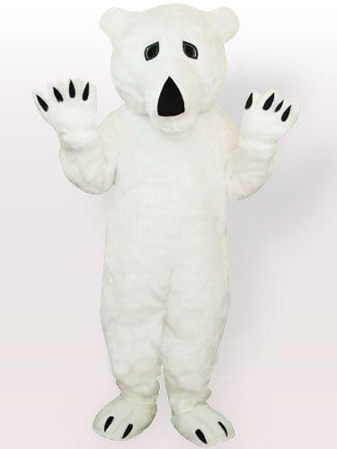 Plush Polar Bear Adult Mascot Costume