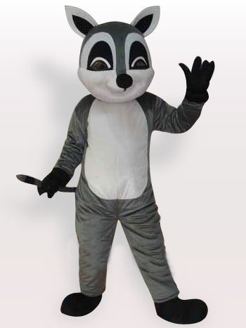 Top Raccoon Short Plush Adult Mascot Costume