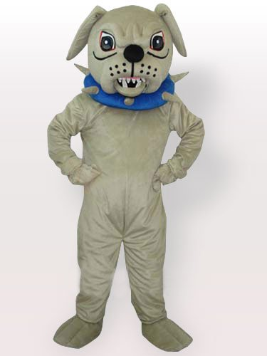 Big Dog with Collar Adult Mascot Costume