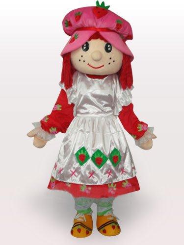 Blackburry Girl Short Plush Adult Mascot Costume