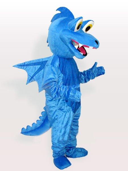 Blue Stegosaurus Adult Mascot Costume